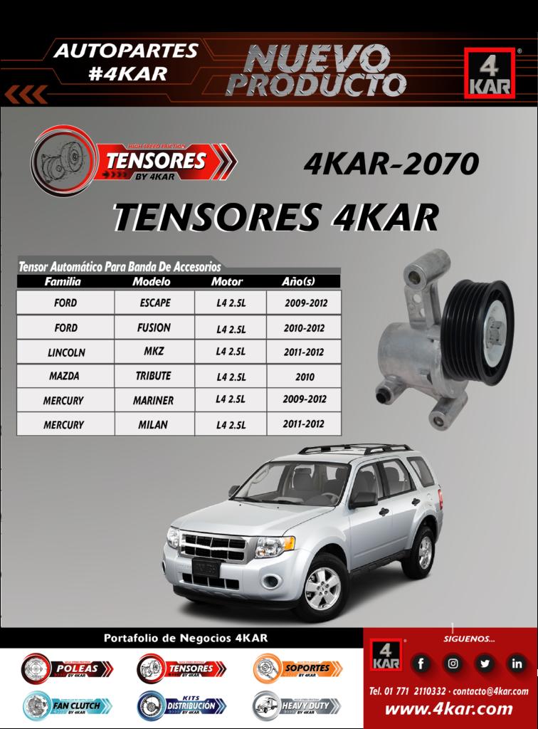 Tensor automático para banda de accesorio Ford y lincoln, mazda, Mercyru   4KAR-2070 4KAR