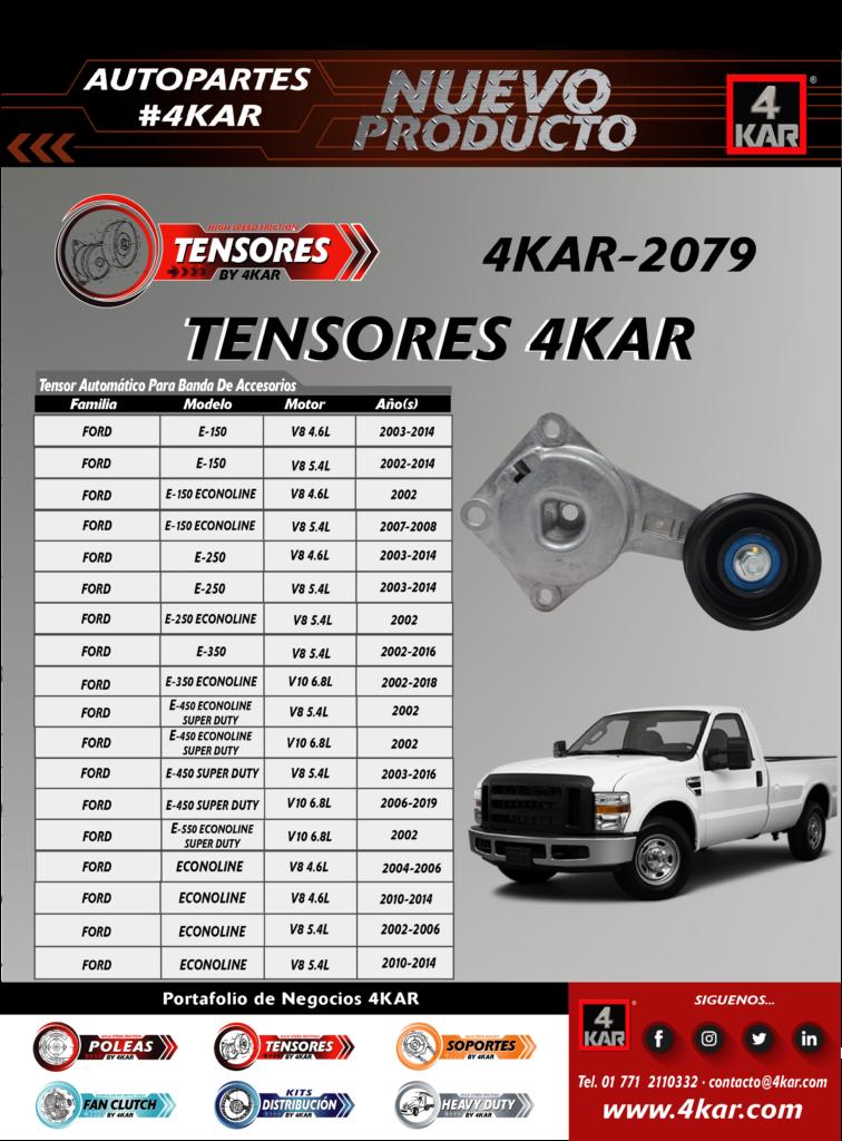 Tensor automático para banda de accesorio Ford y lincoln  4KAR-2079 4KAR