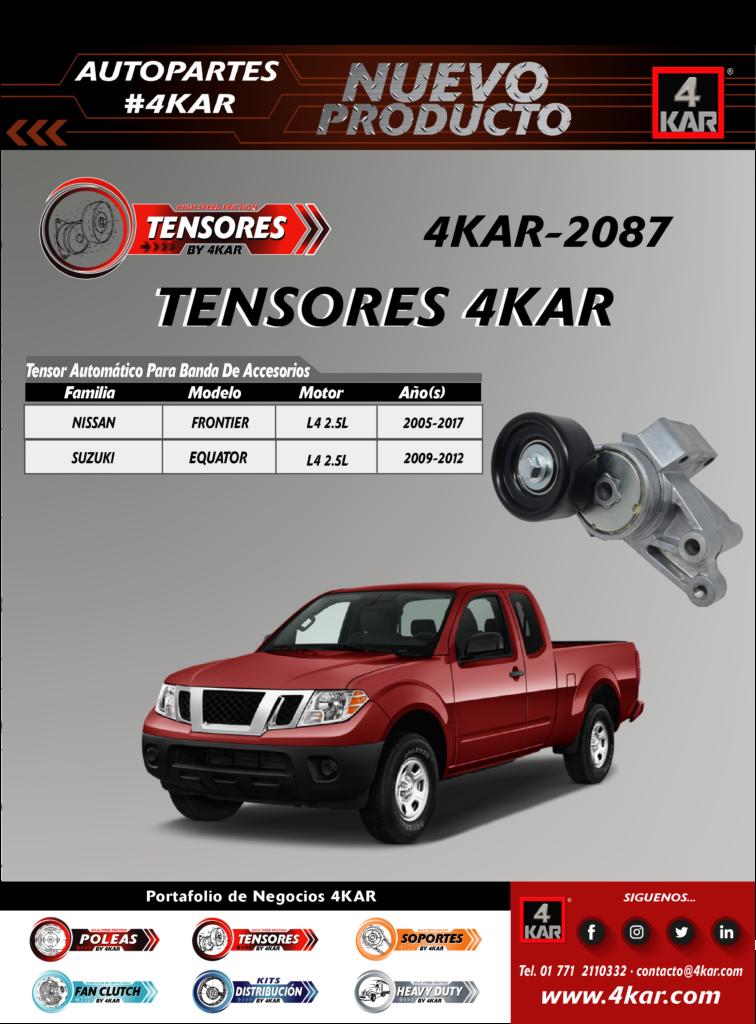 Tensor automático para banda de accesorio Nissan, Suzuki   4KAR-2087 4KAR