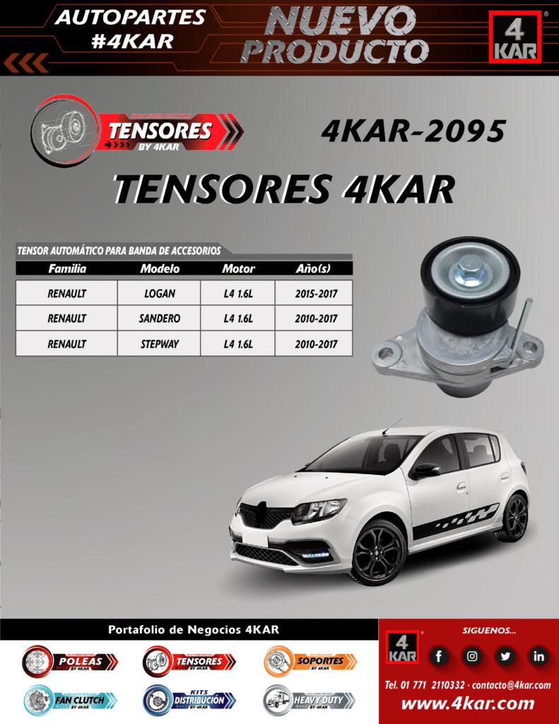 Tensor automático para banda de accesorio Renault logan Renault Sandero Renault stepway  4KAR-2095 4KAR