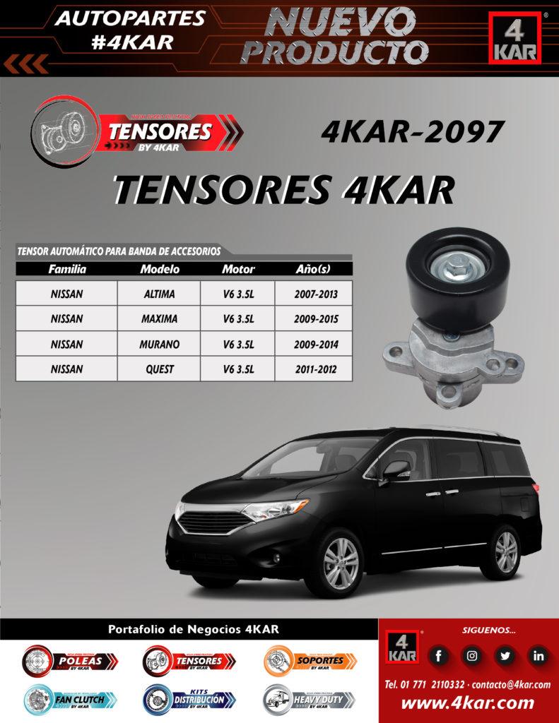 Tensor automático para banda de accesorio Nissan,Altima Nissan Maxima Nissan Murano Nissan Quest  4KAR-2097 4KAR