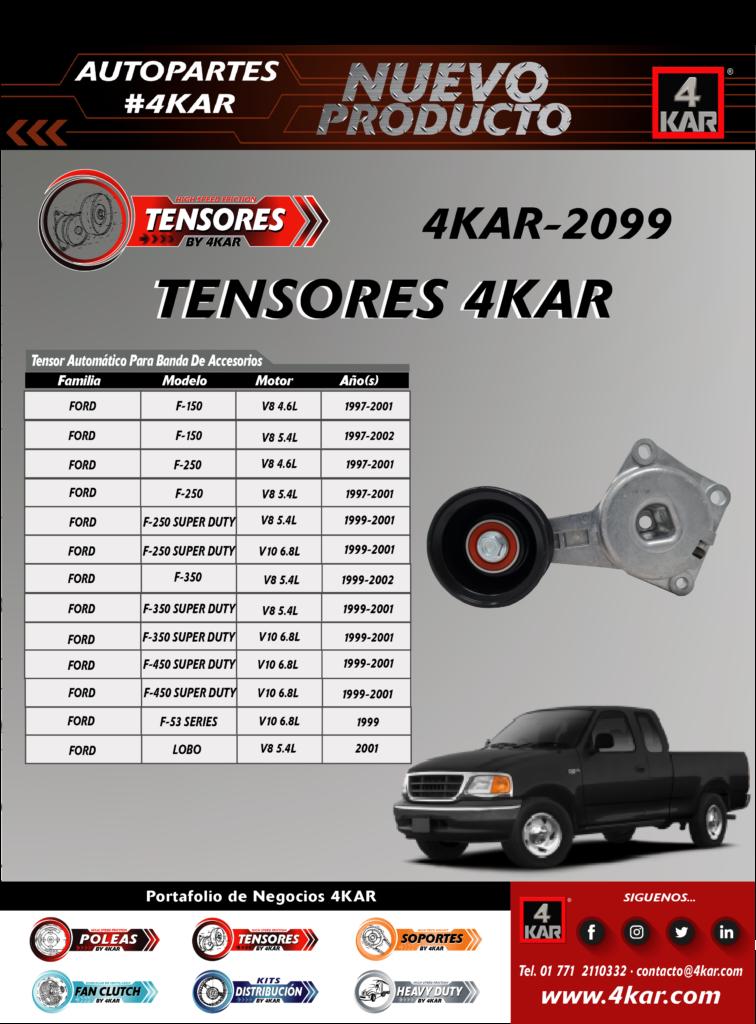 Tensor automático para banda de accesorio Ford 4KAR-2099 4KAR