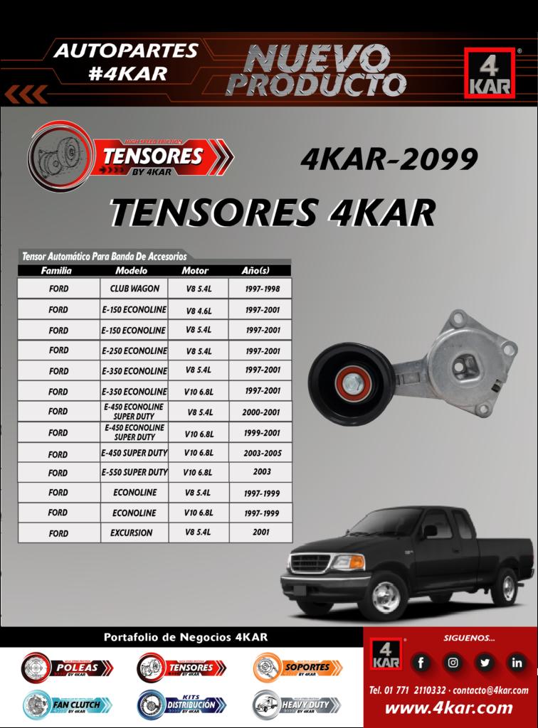 Tensor automático para banda de accesorio Ford, 4KAR-2099 4KAR