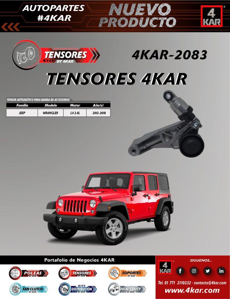 4KAR-2083 Tensor JEEP WranglerL4 2.4L2012-2018
