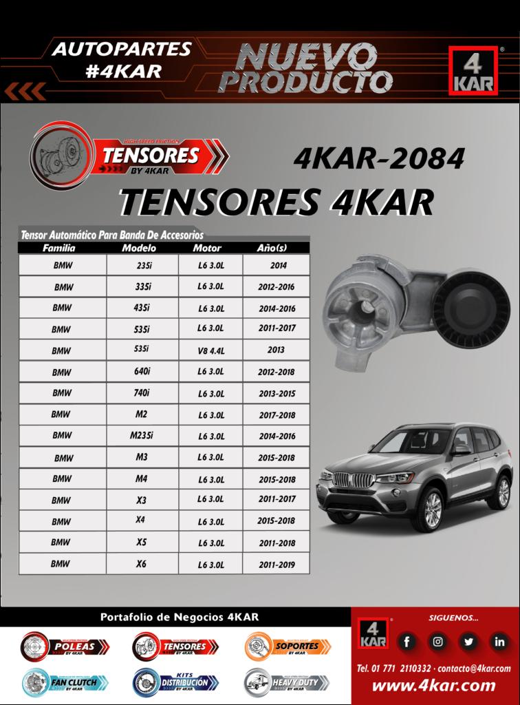 Tensor Automático Para Banda De Accesorios  BMW235iL6 3.0L2014 335iL6 3.0L2012-2016 435iL6 3.0L2014-2016 535iL6 3.0L2011-2017 535iV8 4.4L2013 640iL6 3.0L2012-2018 740iL6 3.0L2013-2015 M2L6 3.0L2017-2018 M235iL6 3.0L2014-2016 M3L6 3.0L2015-2018 M4L6 3.0L2015-2018 X3L6 3.0L2011-2017 X4L6 3.0L2015-2018 X5L6 3.0L2011-2018 X6L6 3.0L2011-2019